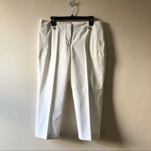 Loft Cropped white pants